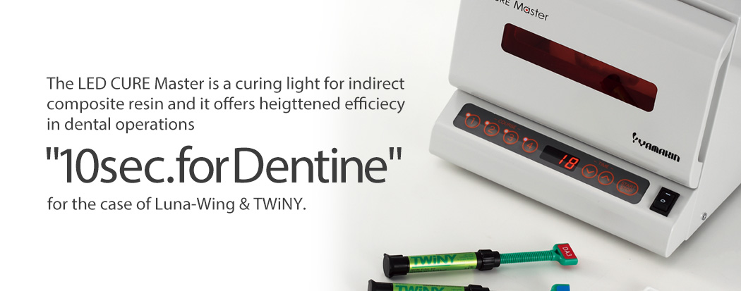 The LED CURE Master is a curing light for indirect composite resin and it offers heigttened efficiecy in dental operations